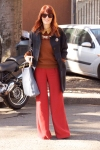 Red hair, red trousers